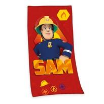 Osuška Požárník Sam red, 75 x 150 cm