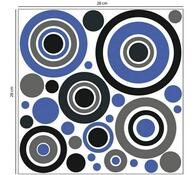 Samolepiaca penová dekorácia Kruhy