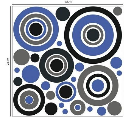 Samolepicí pěnová dekorace Kruhy