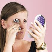 Kosmetické zrcátko + klešte na řasy