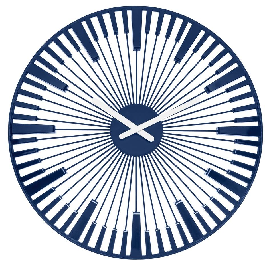 Koziol Nástěnné hodiny Piano modrá, pr. 45 cm