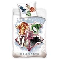 Lenjerie din bumbac pentru copii Harry Potter Hogwarts Erb, 140 x 200 cm, 70 x 90 cm
