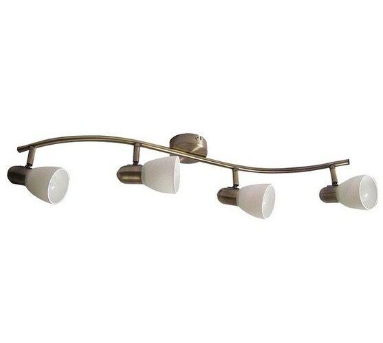 Nástenné svietidlo Rabalux Soma 6309 bronzová / biela, 4 svetla