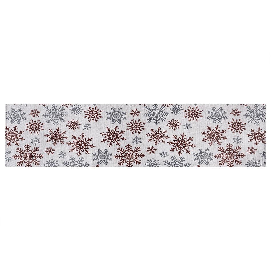 Dakls Bieżnik Płatki śniegu czerwony, 33 x 140 cm