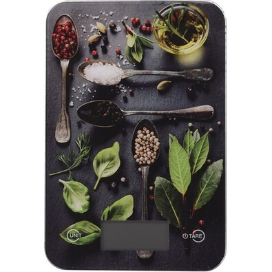 Cântar digital de bucătărie Spices, 5 kg, basil