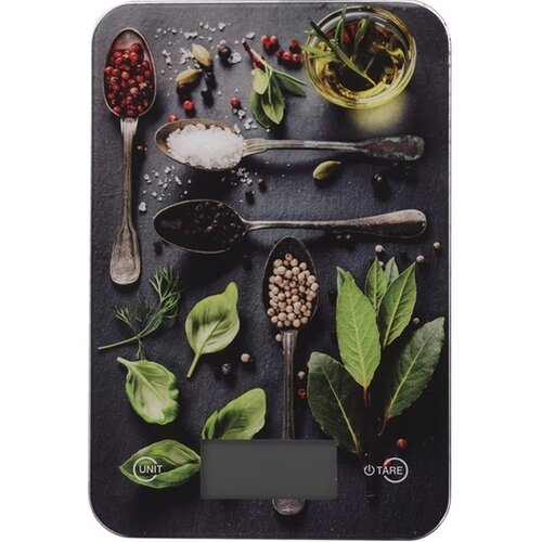Digitální kuchyňská váha Spices, 5 kg, basil