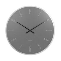 Karlsson KA5800GY Stylowy zegar ścienny, 40 cm