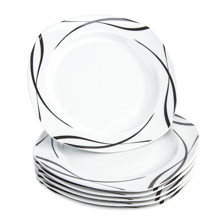 Fotografie Domestic 6dílná sada mělkých talířů Oslo, 25 cm