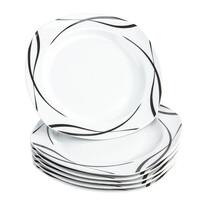 Domestic Oslo 6 részes lapos tányér készlet, 25 cm