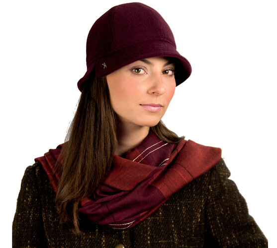 Dámsky flaušový klobúk, čierna, 57 - 58