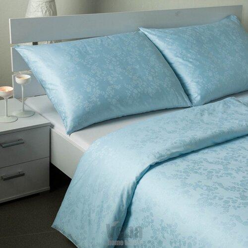 Bohema Szulák veba damaszt ágynemű, kék, 140 x 220 cm, 70 x 90 cm