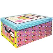 Box s víkem Owl 49 x 24 x 39 cm, modré víko