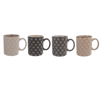 Orion Set căni ceramice FLORI 350 ml, 4 buc.