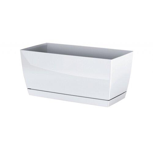 Plastový truhlík Coubi Case s miskou bílá, 39 cm