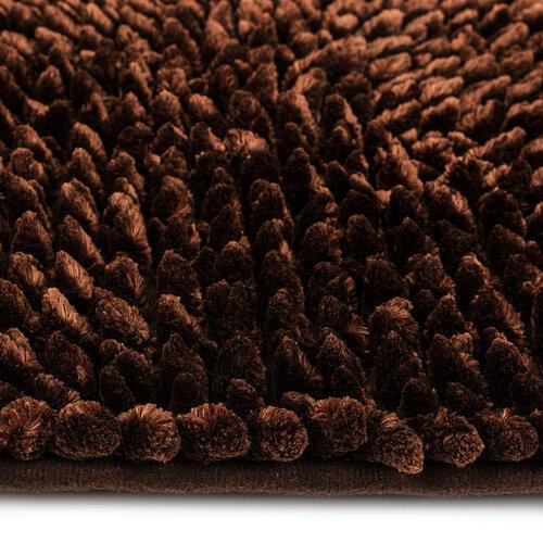 Fürdőszobaszőnyeg Ella micro barna, 50 x 80 cm