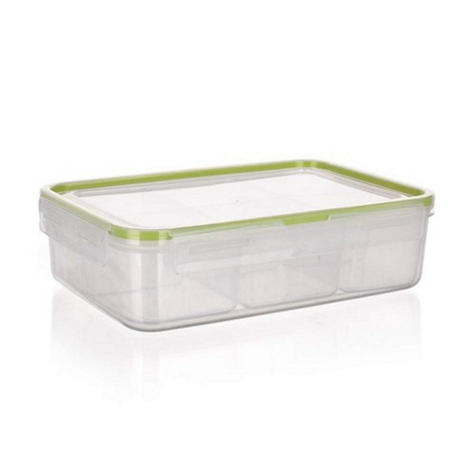 Dělená dóza na potraviny Banquet SUPER CLICK, zelená