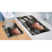 Sada koupelnových předložek Tmavé kameny 3D, 60 x 100 cm, 50 x 60 cm