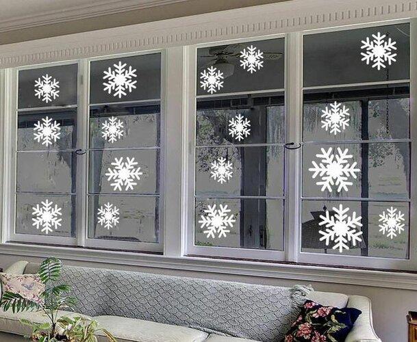 Samolepiaca dekorácia snehové vločky