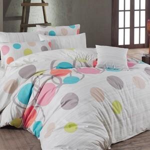 Bavlněné povlečení Puntíky růžová, 140 x 220 cm, 70 x 90 cm