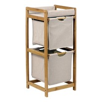 Regał bambusowy 2 szuflady