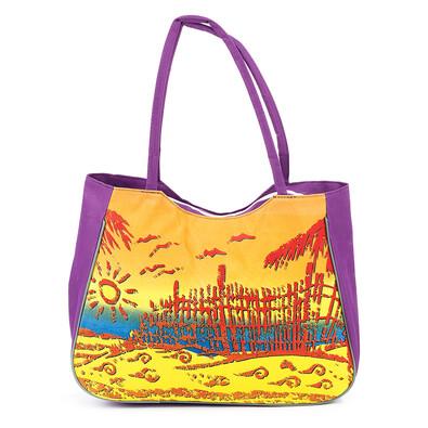 Plážová taška Summer fialová