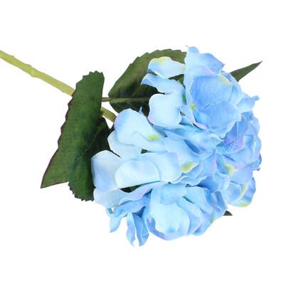 Umelá kvetina Hortenzia, modrá