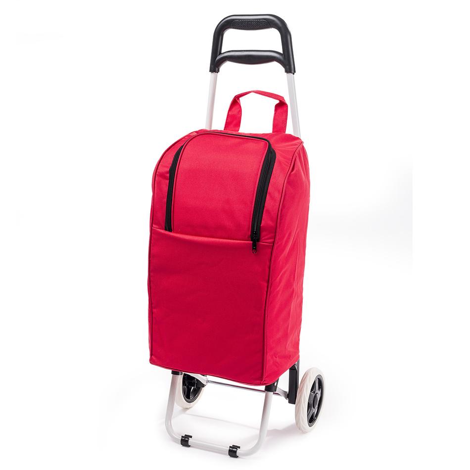 Chladicí nákupní taška na kolečkách Lola, červená