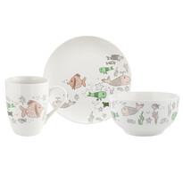 Florina 3-częściowy zestaw porcelanowy Rybki