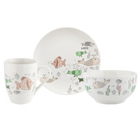 Florina Halak 3 részes porcelán szett