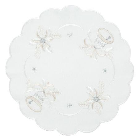 Faţă de masă crăciun Clopoţei albă, pr. 35