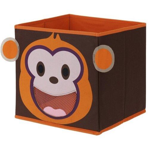 Textilní úložný box Opička, 28 x 28 x 28 cm