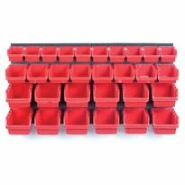 Függeszthető panel szerszámokhoz, 30 boxszal, Orderline, 80 x 16,5 x 40 cm