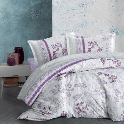 Lenjerie de pat, din flanelă, Kvalitex Lavenda, violet, 140 x 200 cm, 70 x 90 cm