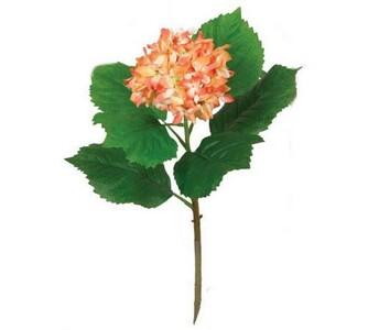 Umělá květina hortenzie oranžovobílá