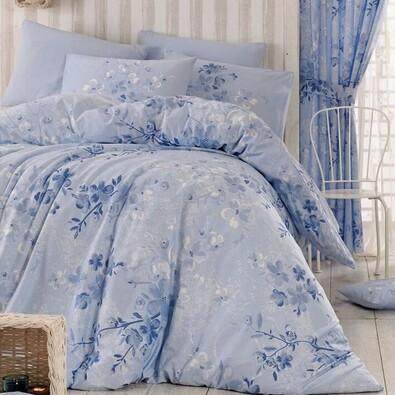 Homeville Pościel bawełniana Elena blue, 140 x 200 cm, 70 x 90 cm, 50 x 70 cm