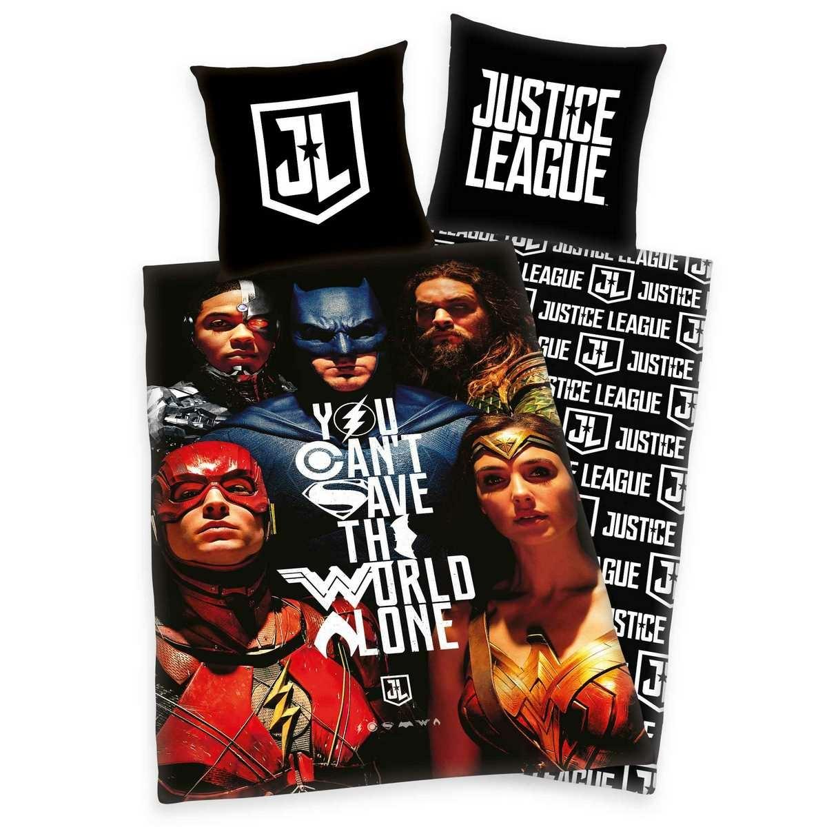 Herding Bavlnené obliečky Justice League, 135 x 200 cm, 80 x 80 cm