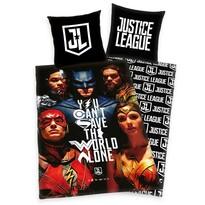 Lenjerie de pat, din bumbac, Justice League, 135 x 200 cm, 80 x 80 cm
