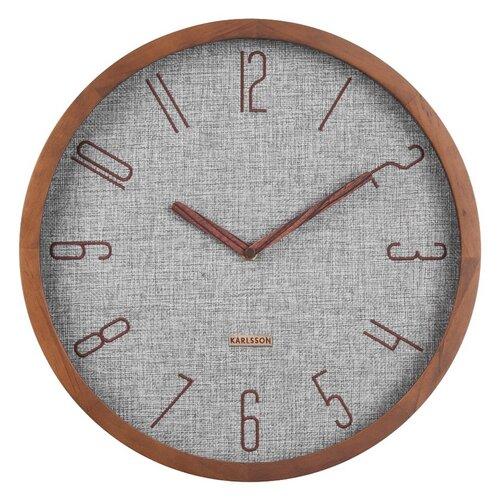 Karlsson 5823GY Designové nástenné hodiny, pr. 35 cm