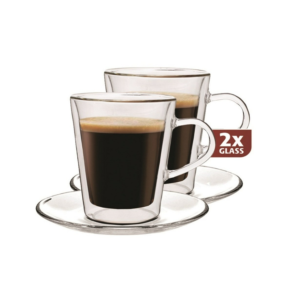"Set de pahare termo Maxxo ""Lungo"", 2 piese, 220 ml imagine 2021 e4home.ro"