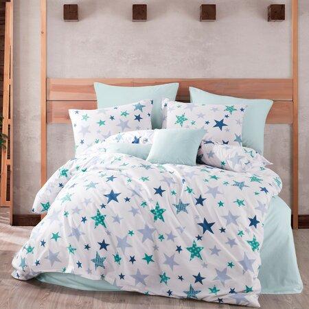 Bavlněné povlečení Stars modrá, 140 x 200 cm, 70 x 90 cm