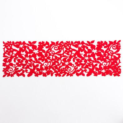Běhoun plstěný červený, 100 x 30 cm