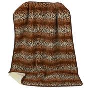 Vlněná denní deka Merino leopard, 140 x 200 cm