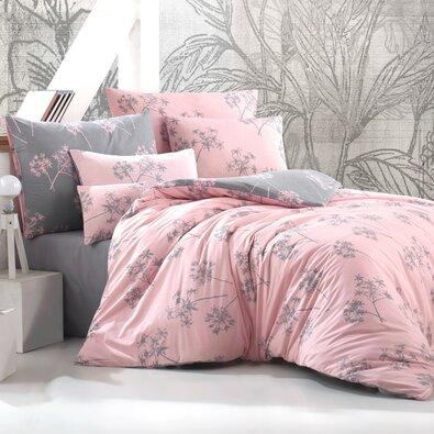 Lenjerie de pat din bumbac Idil, roz vechi, 140 x 200 cm, 70 x 90 cm