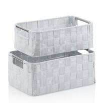 Kela 2-częściowy komplet koszyków do przechowywania PORTO, biały