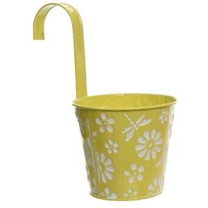 Závěsný květináč Flowers žlutá, pr. 14 cm