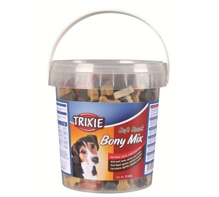 Trixie Soft Snack Bony MIX hovězí, jehněčí, losos,