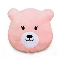 Domarex Pernă de pluș Ursuleț roz, 27 x 26 cm