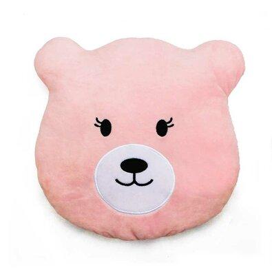 Domarex Plyšový polštářek Medvídek růžová, 27 x 26 cm