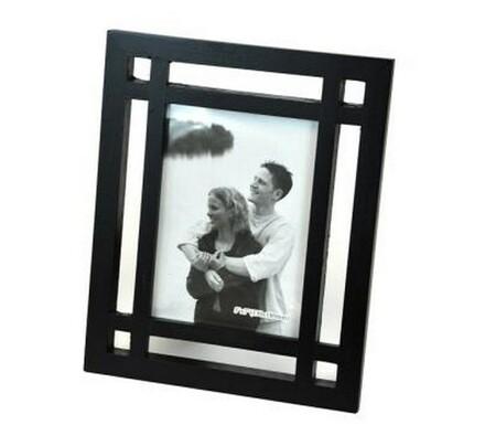Fotorámeček dřevěný, černý 13x18 cm