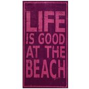 Plážová osuška Life is good, 90 x 170 cm